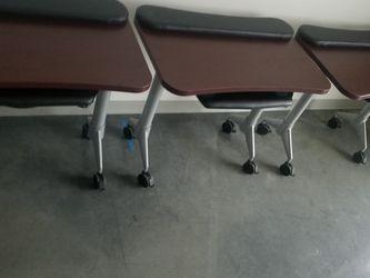 Rolling Desks High Quality W Tiltable Keyboard shelf for Sale in Friendswood,  TX