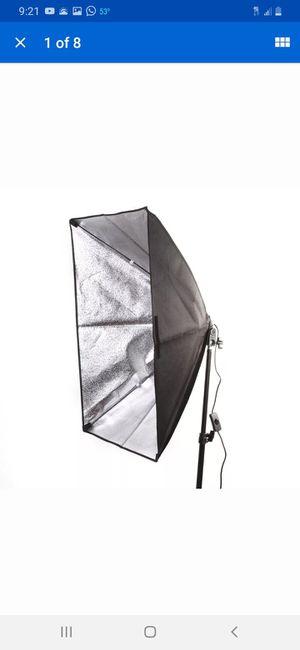 50x70cm Rectangular Softbox Photography Studio Lighting Light E27 Single Bulb for Sale in Bakersfield, CA