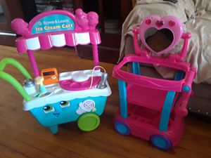 Shop & learn ice cream cart and makeup toy stand for Sale in New Haven, CT