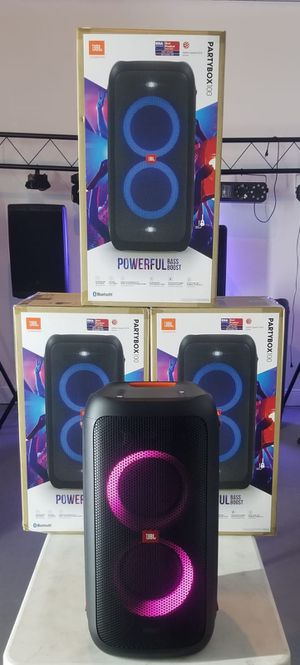Brand new JBL speaker Partybox100. Bluetooth. USB. Rechargeable battery. Can mount on a pole. NUEVO EN CAJA. for Sale in Medley, FL