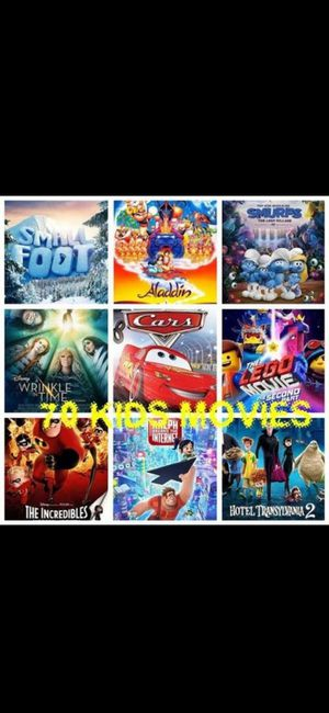 90 HD Disney and Kid Movies on USB for Sale in San Antonio, TX