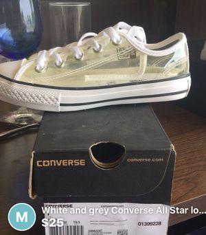Clear converse size 1 for Sale in Ecorse, MI