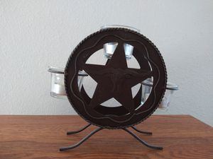 RUSTIC CANDLE HOLDER for Sale in Los Lunas, NM