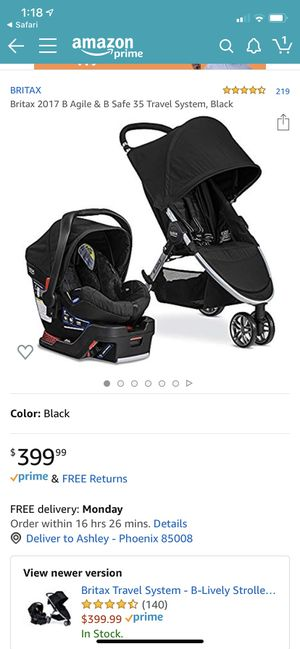 Britax B-Agile Travel Stroller System for Sale in Phoenix, AZ