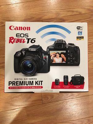 Canon eos rebel t6 premium camera kit for Sale in Sterling, VA