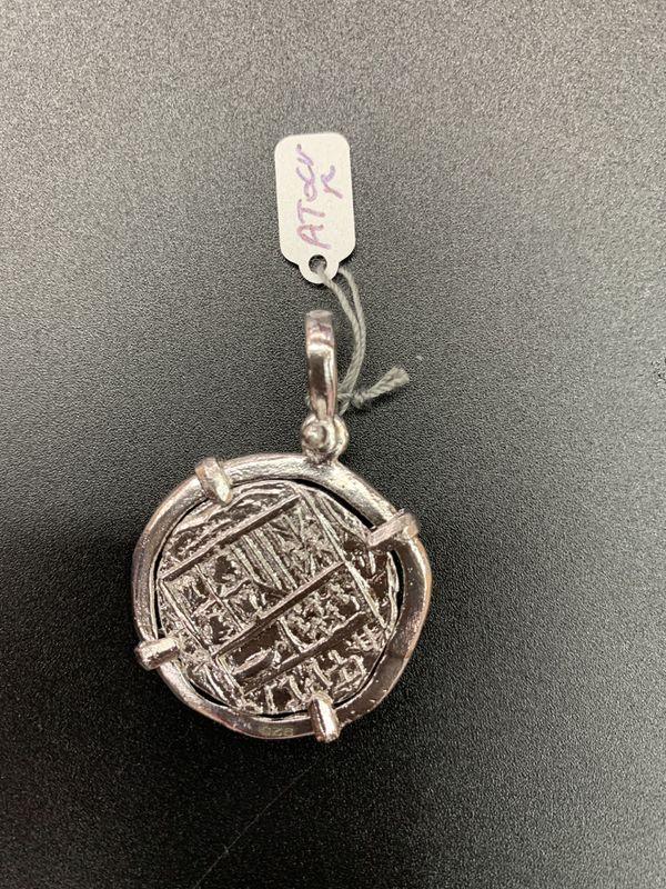 Atocha silver coin pendant