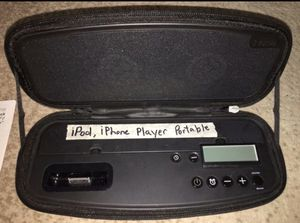 iHome- iPod- iPhone Player- Portable Stereo Alarm Clock - Speaker Case- Complete with Charger and Instruction Manual! for Sale in West Covina, CA