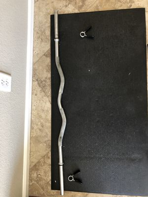 Ez curl bar for standard 1 inch weights for Sale in Chandler, AZ