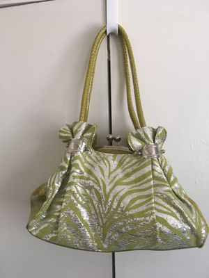 Green and silver sequined purse for Sale in Beaumont, TX