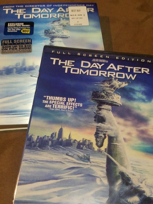 NEVER OPENED* The Day After Tomorrow Collectors Edition