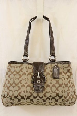 Coach Signature Canvas Patent Soho Shoulder Bag for Sale in Chattanooga, TN