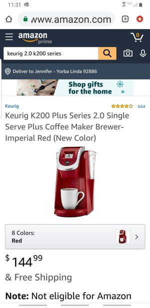 Keurig K200 Plus 2.0 Imperial Red for Sale in Yorba Linda, CA