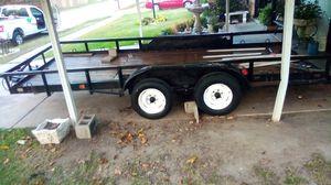 16 Ft Utility Trailer 14000 gross weight w/brakes for Sale in Keller, TX