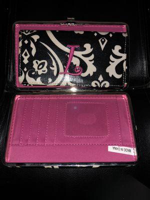 Monogrammed L Hardcase wallet and checkbook holder for Sale in Lascassas, TN