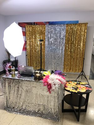 Photo curtain props booth for Sale in Tustin, CA