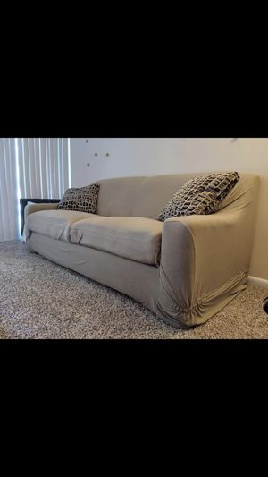 Couch with cover and cushion (Pick up only) for Sale in West Springfield, VA