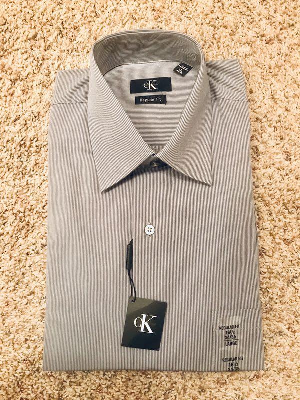 New men's Calvin Klein dress shirt