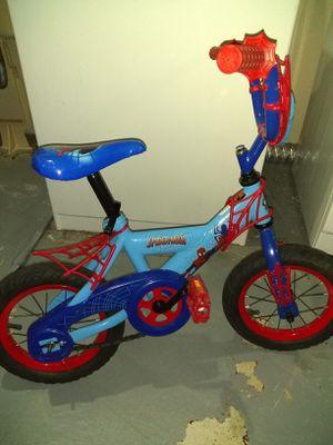 3 to 5 year old kids Spiderman bike with training wheels. for Sale in Kalamazoo, MI