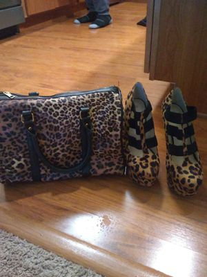 Leopard print shoes and bag for Sale in Concord, MA