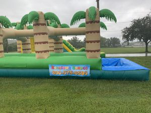 Tropical Double Lane Slip-N-Slide for Sale in Kissimmee, FL