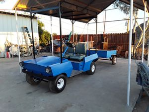 Utility maintenance golf cart with cargo trailer for Sale in Lake Elsinore, CA