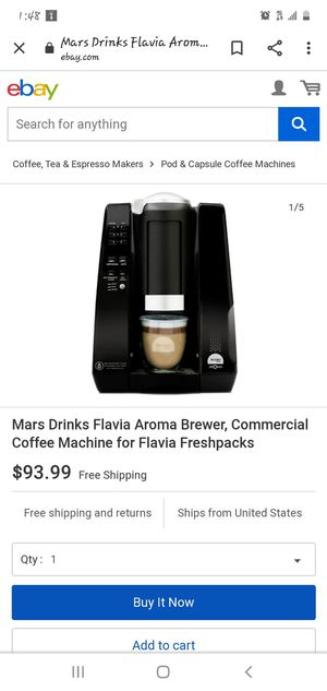 Flavia Aroma Brewer for Sale in Tampa, FL