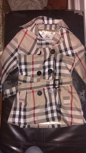 Burberry Coat Authentic. For girls for Sale in Monroe, WA