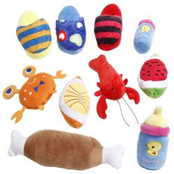10 Piece Dog Squeky Tously Cut Pet Plush Toys Stuffed Puppy Chew Toys For Small Medium Dog for Sale in Montebello,  CA