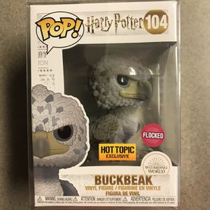 Flocked Buckbeak BLACK EYES Funko Pop Hot Topic Exclusive Harry Potter 104 with protector for Sale in Lewisville, TX