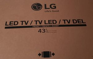 "**BRAND NEW** | LG 43"" LED TV !! IN BOX !! NEW CORDS !! WORK GREAT !! for Sale in Federal Way, WA"
