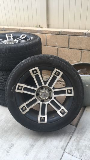 Mamba 22inch rims with tires included. 20k miles on the tires for Sale in San Clemente, CA