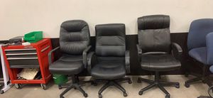 3 black spinning office chairs for Sale in Gaithersburg, MD