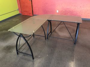 Glass top desk for Sale in Fountain Valley, CA