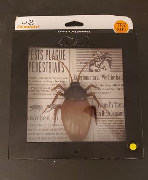 Halloween Animated Cockroach in Frame for Sale in Houston, TX