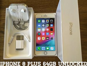 Iphone 8 Plus UNLOCKED 64GB (Like-New) Gold for Sale in Lincolnia, VA