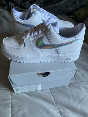 "NIKE AIR FORCE 1 ""IRIDESCENT "" size 8 women for Sale in Los Angeles, CA"