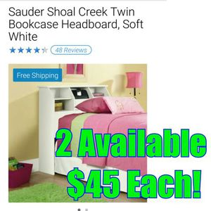 Brand new in box White Twin bookcase headboard for Sale in Maineville, OH