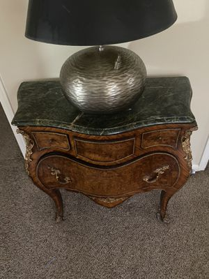 Bombay chest with marble top. Set of two for Sale in Fort Belvoir, VA