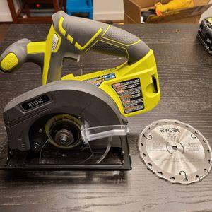 Ryobi One+ 18v Cordless Circular Saw + Blade for Sale in Arlington, VA