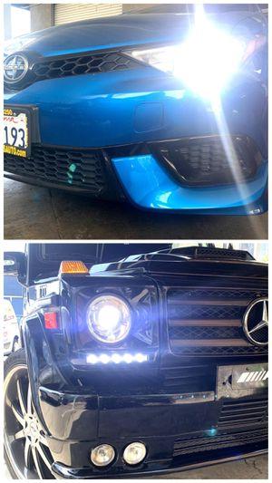 Car led headlights or fog lights for ANY car $25 •plug&play •hablamos español for Sale in West Covina, CA