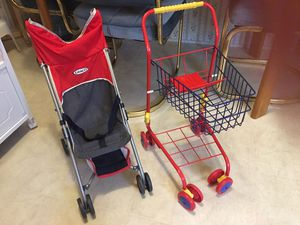 Baby stroller and shopping cart $10 for Sale in Denton, TX