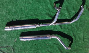 Harley Davidson Motorcycle FL Touring 1340cc & 1450cc Exhaust Header Pipes with Heat Guards & Mufflers for Sale in Hollywood, FL