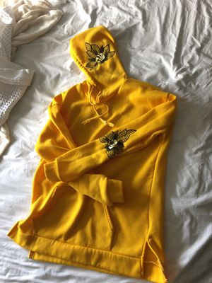 Yellow floral light weave hoodie size m for Sale in Edmonds, WA