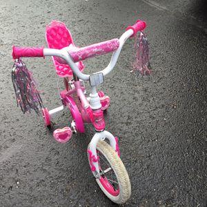 "Disney Princess Girls 12"" Bike with Doll Carrier for Sale in Bellevue, WA"