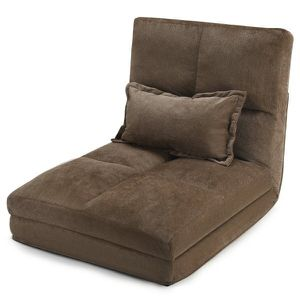 Fold Down Chair Flip Out Lounger Convertible Sleeper Couch Futon Bed w/ Pillow for Sale in Los Angeles, CA