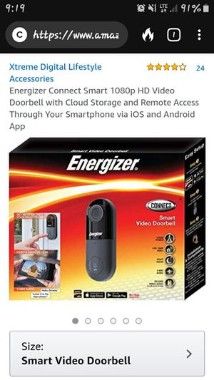 Brand new Energizer doorbell camera for Sale in Corbin, KY