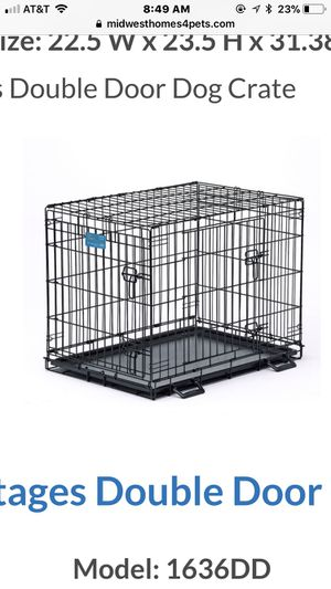Life stages double door dog crate - 30 x 21 x 24 for Sale in Miami, FL
