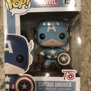 Funko Pop Captain America (Sepia Blue) 75th Anniversary for Sale in Yorba Linda, CA
