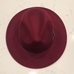 Maroon Felt Hat for Sale in Keller,  TX