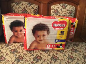 Diapers Huggies Size 3 for Sale in Clarksburg, MD